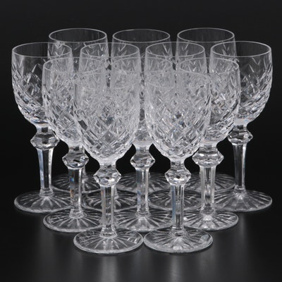 """Waterford Crystal """"Powerscourt"""" White Wine Glasses"""