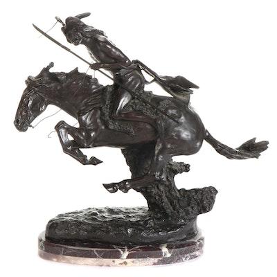 "Bronze Sculpture After Frederic Remington ""Cheyenne"""