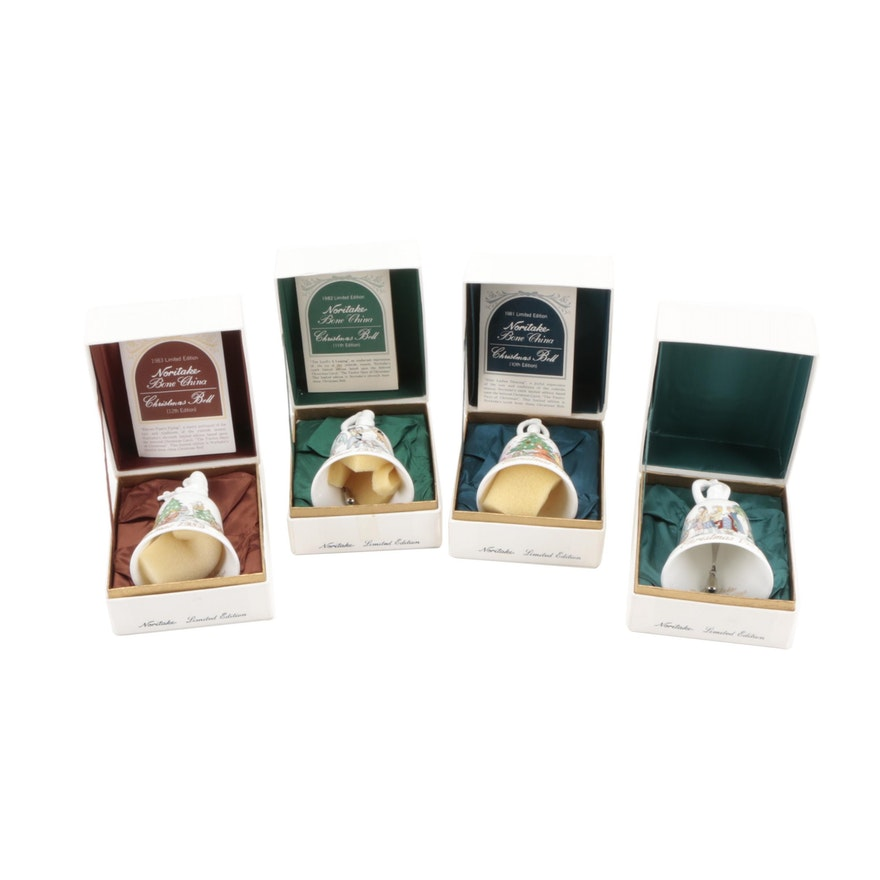 Noritake Bone China Limited Edition Christmas Bells, 1981–1984