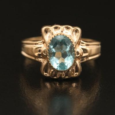 Vintage 10K Glass Ring