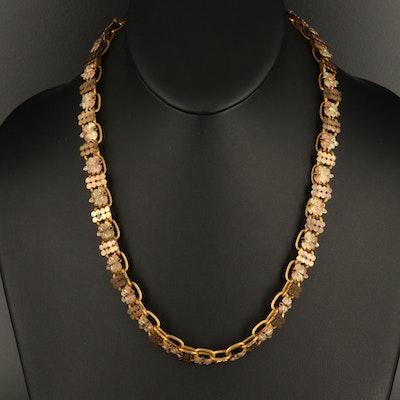 Victorian Foliate Book Chain Necklace