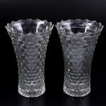 "Fostoria ""American Clear"" Glass Vases, 20th Century"