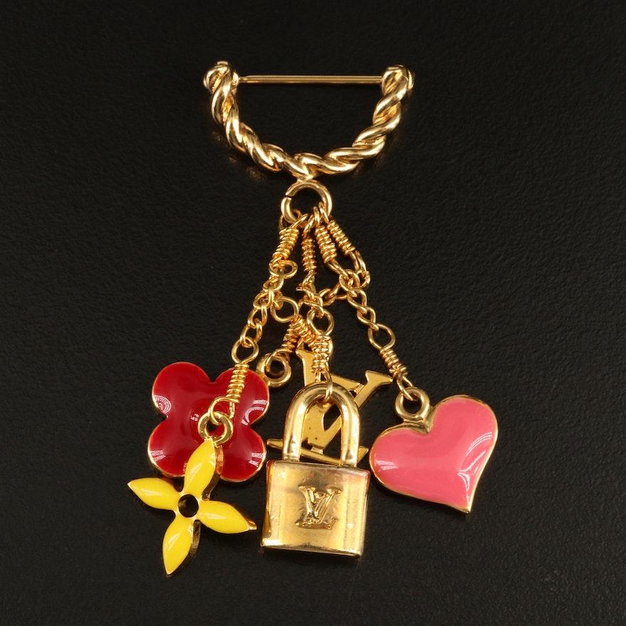 Louis Vuitton Sweet Monogram Charm Brooch Pin