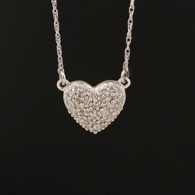 10K 0.09 CTW Diamond Heart Necklace