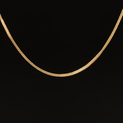18K Foxtail Chain Necklace
