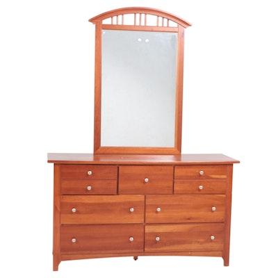 Stanley Cherry Dresser with Wall Mirror