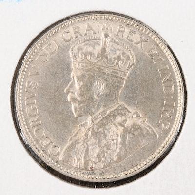 1920 Canada Silver Quarter