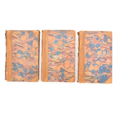 """Illustrated """"The Tour of Doctor Syntax"""" Three-Volume Set, 1855"""