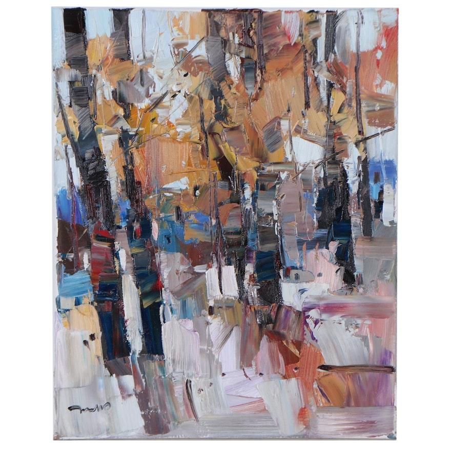 "Jose Trujillo Oil Painting ""Autumn's Arrival,"" 2021"