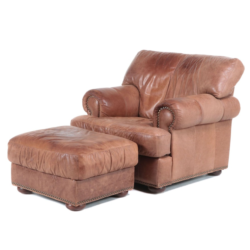 Leather Mart Lounge Chair and Ottoman