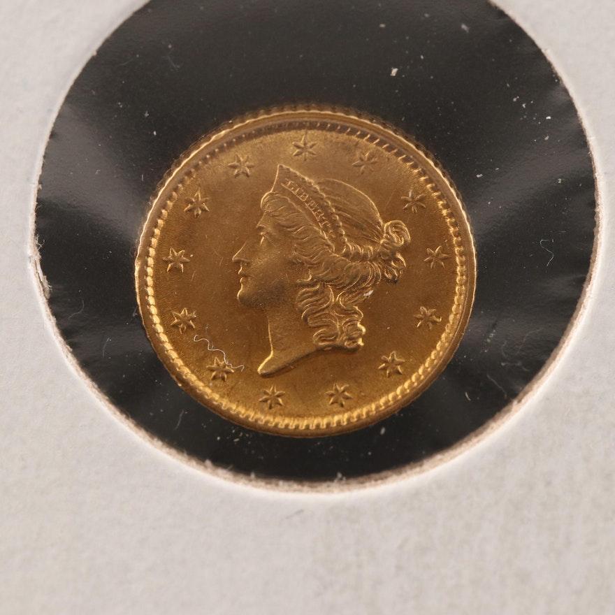 1853 Liberty Head Type I Gold Dollar