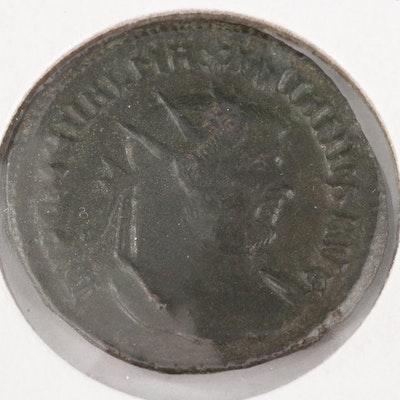 Ancient Roman Imperial AE Antoninianus Coin of Maximianus, ca. 286 AD