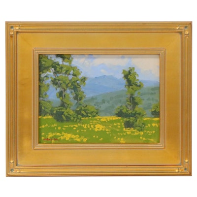 """Marc A. Graison Oil Painting """"Spring Touch,"""" 2021"""