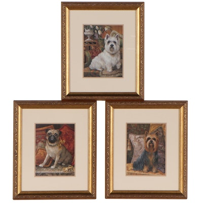 Offset Lithographs After Elaine Vollherbst of Dogs