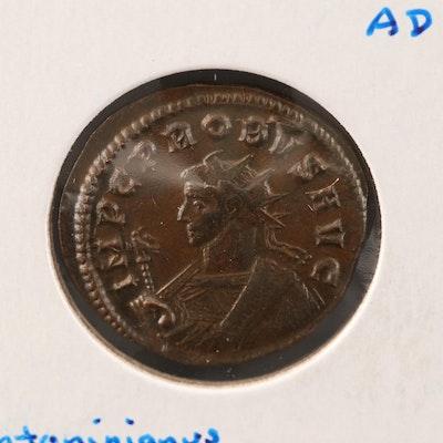 Ancient Roman Imperial AE Antoninianus Coin of Probus, ca. 282 A.D.