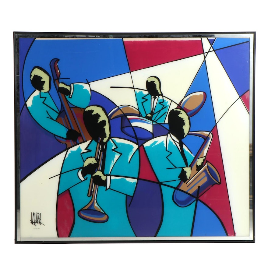 Abstract Serigraph of Musicians, 1992