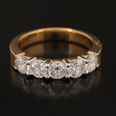 18K 1.98 CTW Diamond Five Stone Band