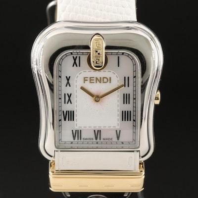 Swiss Made Fendi Buckle Style Stainless Steel Case Wristwatch