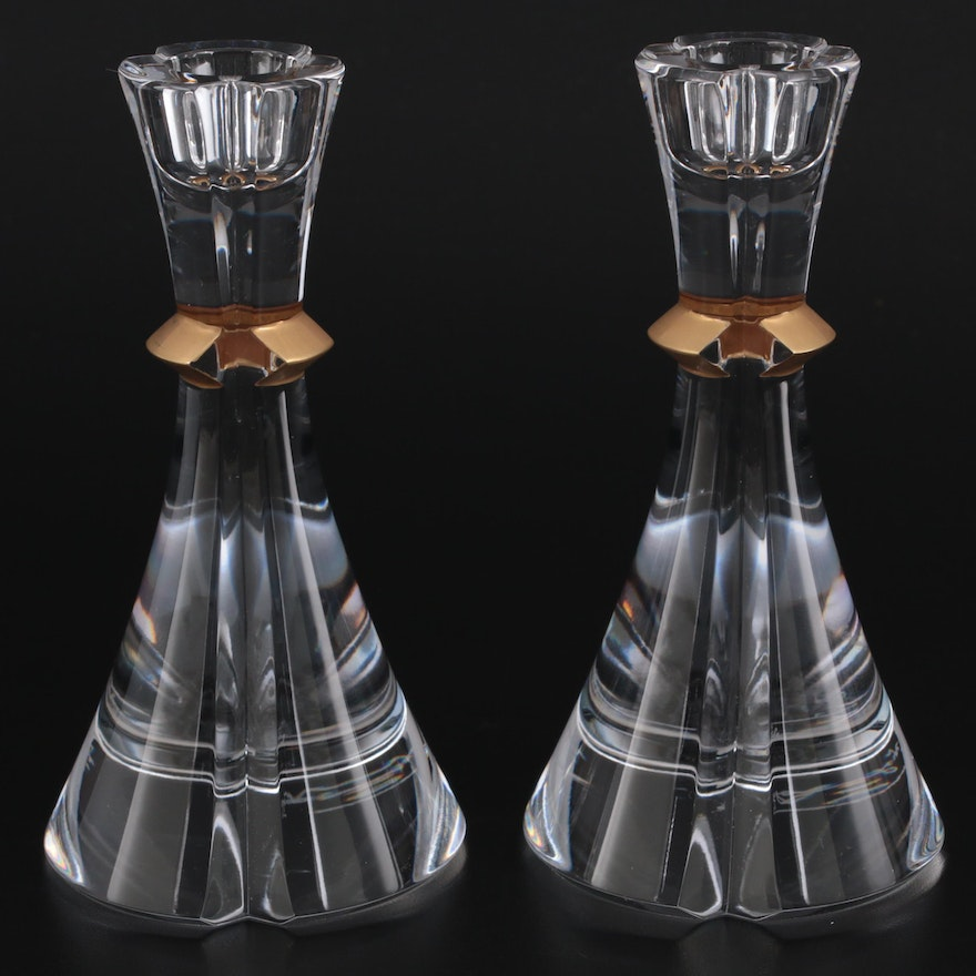 Fabergé Atelier Crystal Collection Crystal Candle Holders