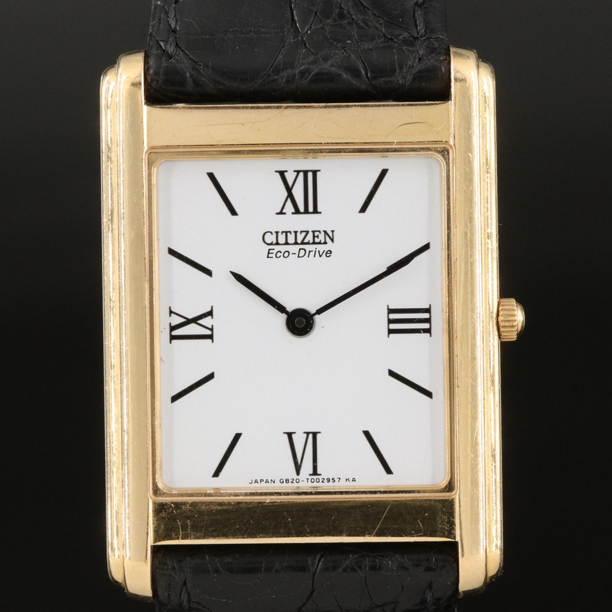 18K Citizen Eco-Drive Stiletto Wristwatch