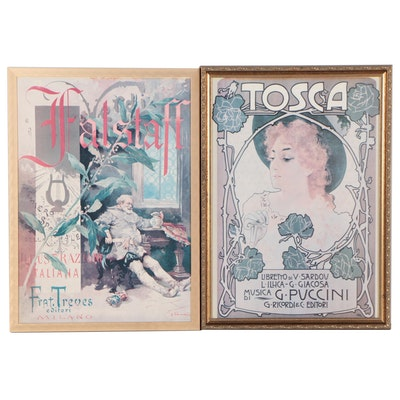 Giacomo Puccini and Giuseppe Verdi Opera Reproduction Posters