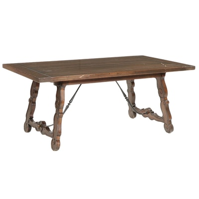 Spanish Baroque Style Wooden Dining Table, Late 20th Century