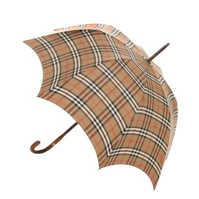Burberrys Umbrella in ''Haymarket Check''