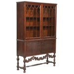 Gothic Revival Mahogany Display Cabinet, Early to Mid 20th Century