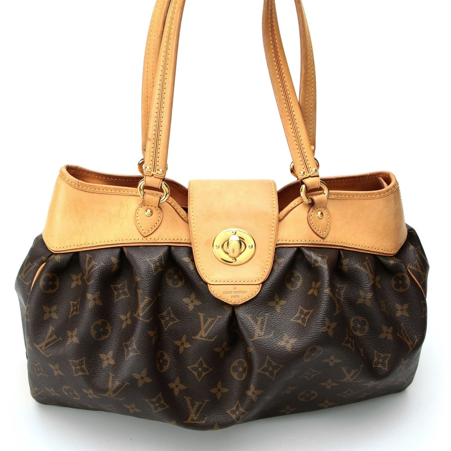 Louis Vuitton Boetie MM in Monogram Coated Canvas and Vachetta Leather