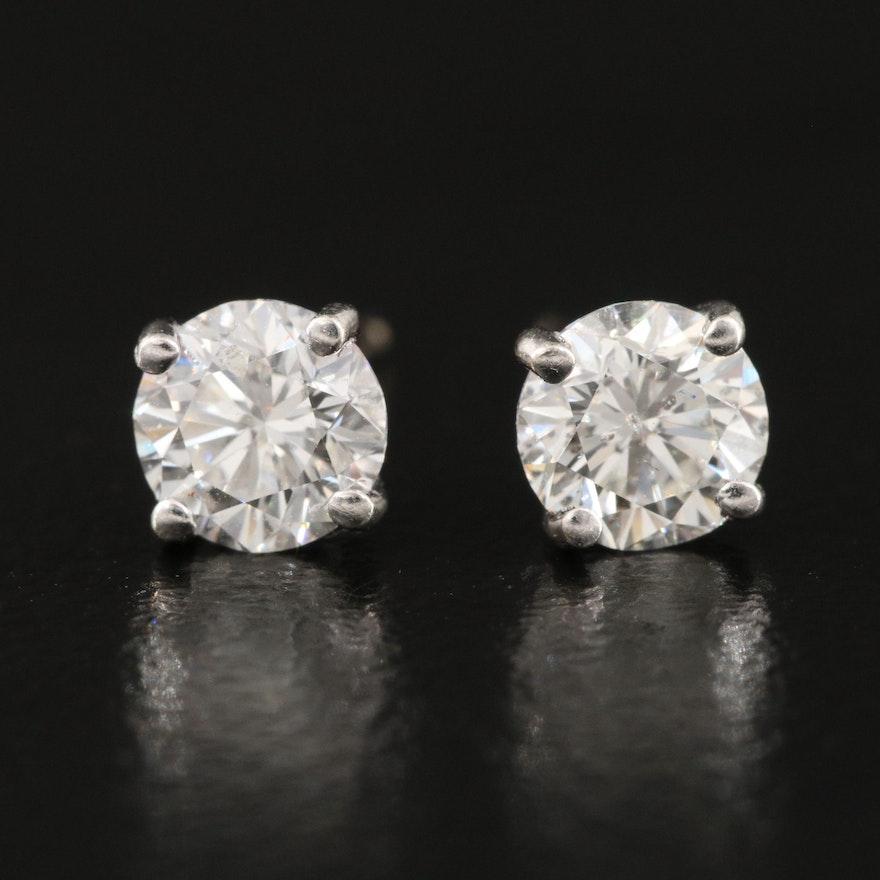 14K 0.76 CTW Diamond Earrings