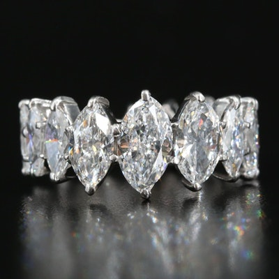 Plaitnum Graduated 5.81 CTW Diamond Eternity Band