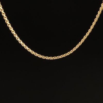 18K Serpentine Chain