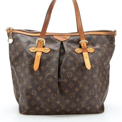 Louis Vuitton Palermo GM Bag in Monogram Canvas with Vachetta Leather