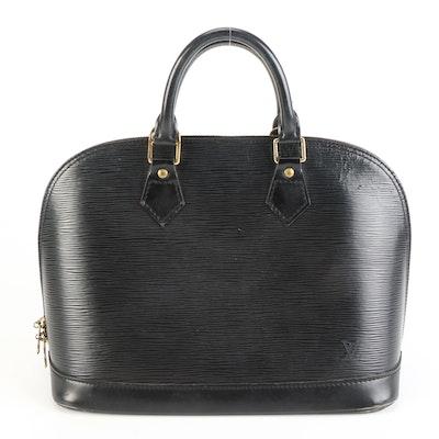 Louis Vuitton Alma Bag in Black Epi Leather