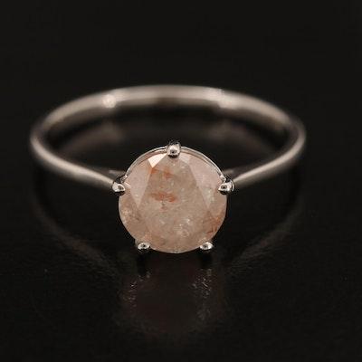 Platinum 1.60 CT Diamond Solitaire Ring