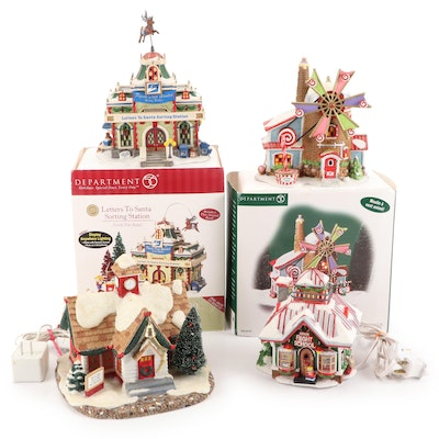 """Dept. 56 """"North Pole Series"""" and Other Porcelain Christmas Buildings"""