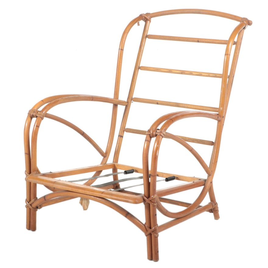 """Heywood-Wakefield """"Ashcraft"""" Simulated Bamboo Lounge Chair, Mid-20th Century"""