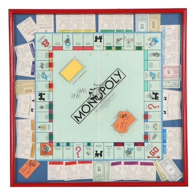 Framed Game of Monopoly, 1980s