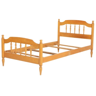 Maple Twin Size Bed Frame, Mid-20th Century
