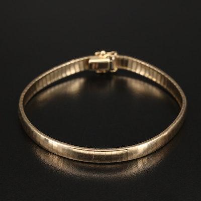 Italian 14K Omega Chain Bracelet