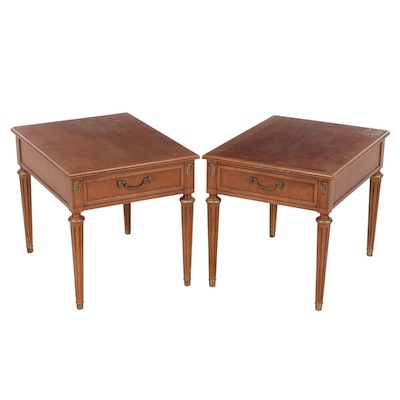 Pair of Henredon Neoclassical Style End Tables, Late 20th Century
