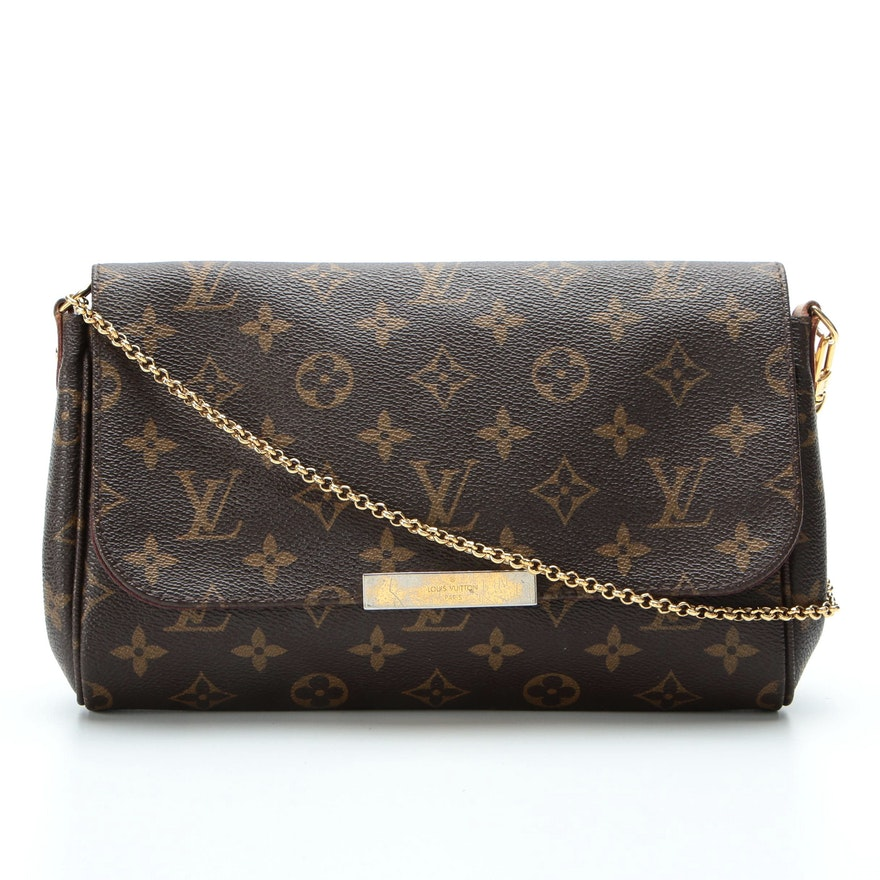 Louis Vuitton Favorite MM Two-Way Bag in Monogram Canvas