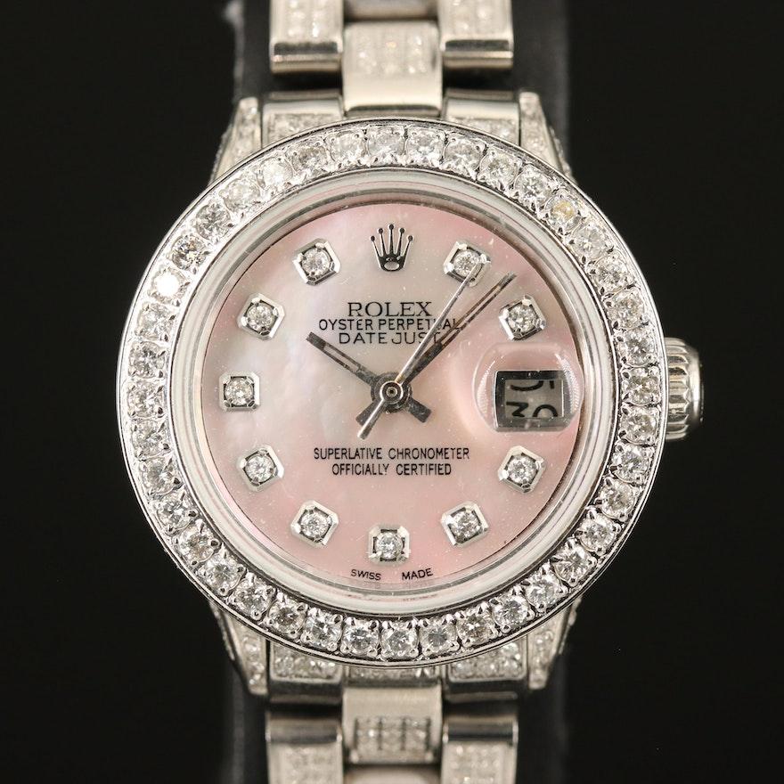 1970 Rolex Datejust 2.70 CTW Diamond Wristwatch