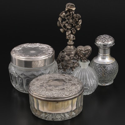 Avon, Matson and Other Powder Jars and Perfume Bottles