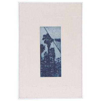 "J. Easton Etching With Aquatint ""Palms II"""