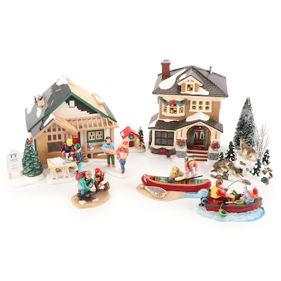 """Department 56 """"The Snow Village"""" Light-Up Table Decor with Others"""