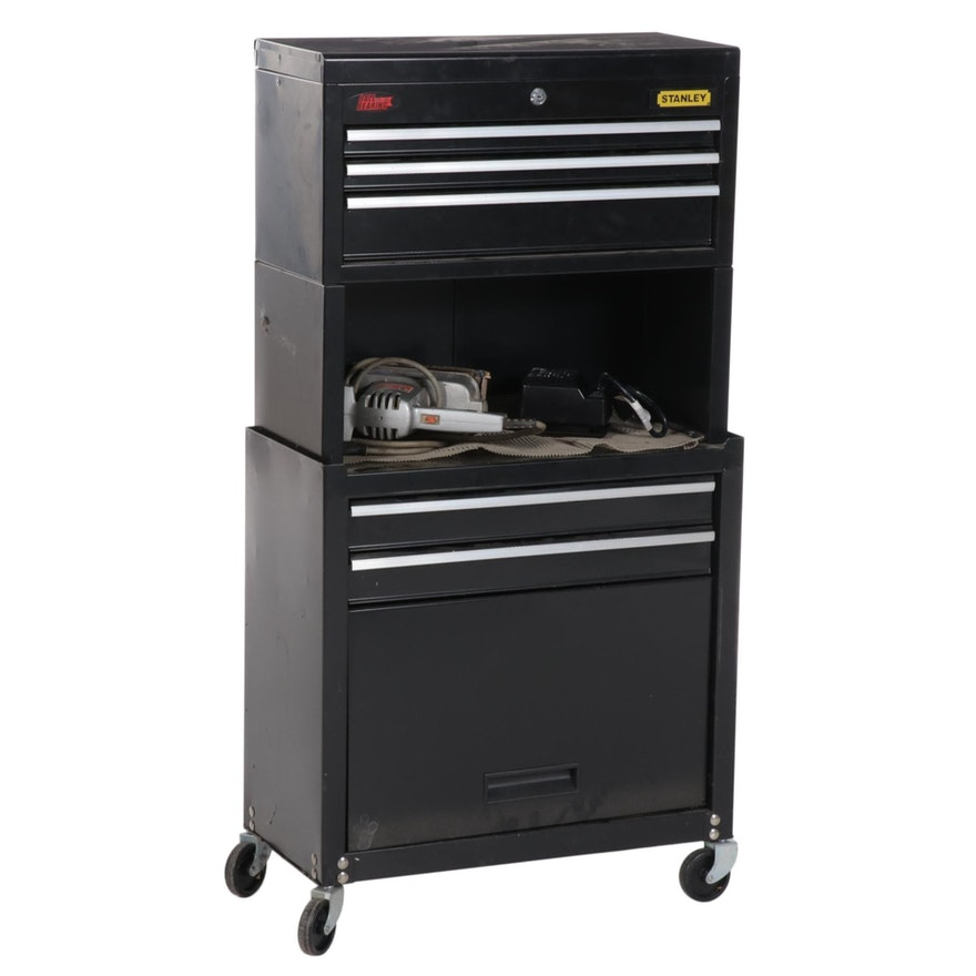Stanley Rolling Tool Chest, Hand Tools, Reciprocating Saw and Sander