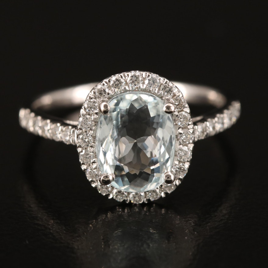Platinum 1.77 CT Tourmaline and 0.32 CTW Diamond Ring with GIA Report