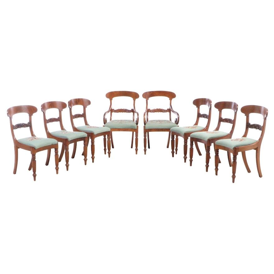 Eight William IV Mahogany Dining Chairs, Mid-19th Century