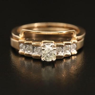 10K 0.35 CTW Tiered Diamond Ring Set